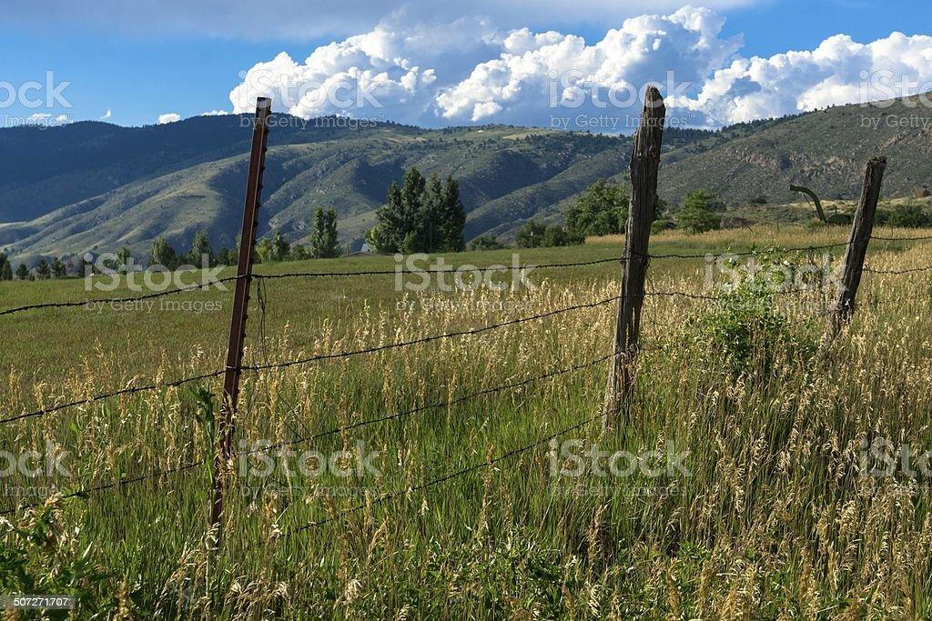 Colorado Farm stock photo