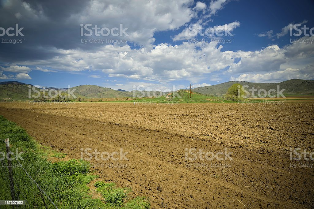 Colorado Farmland royalty-free stock photo