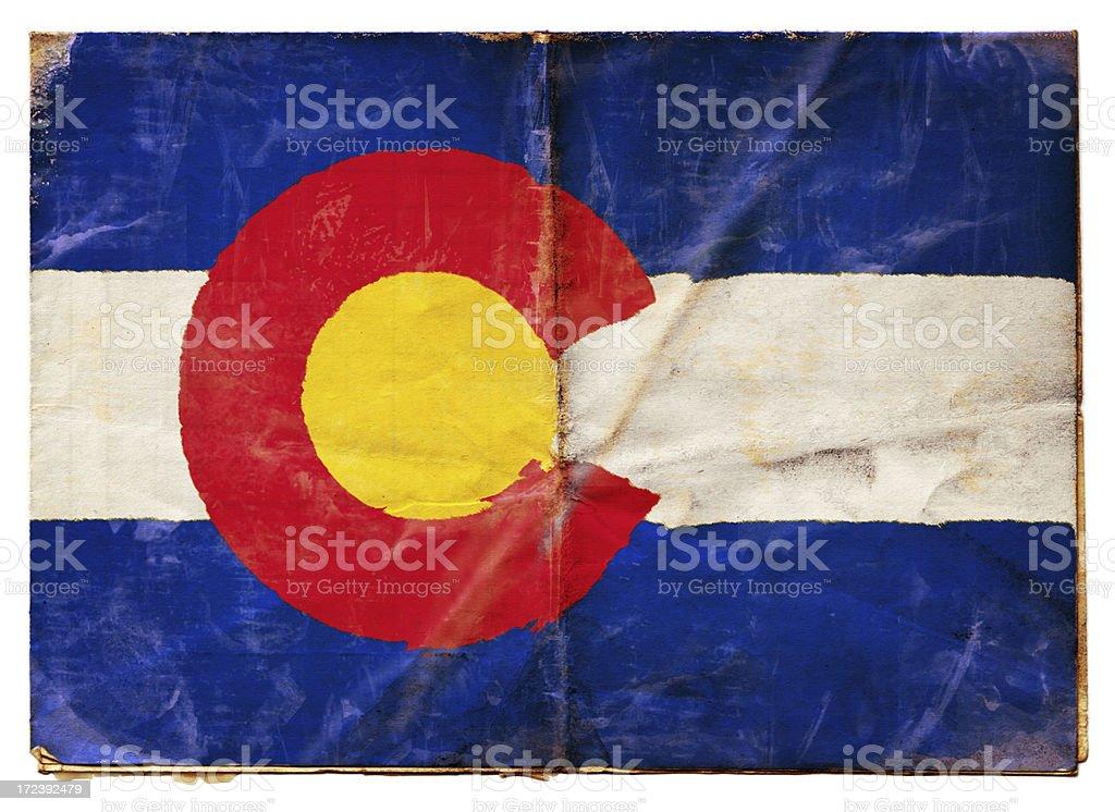 Colorado flag (XXL) stock photo