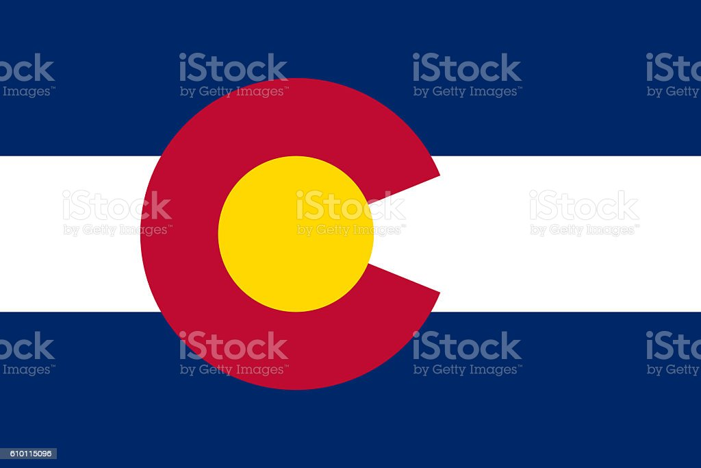Colorado flag stock photo