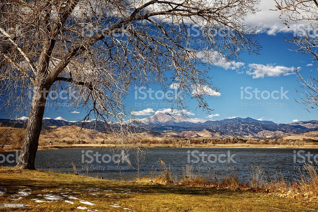 Colorado Front Range and Lake stock photo