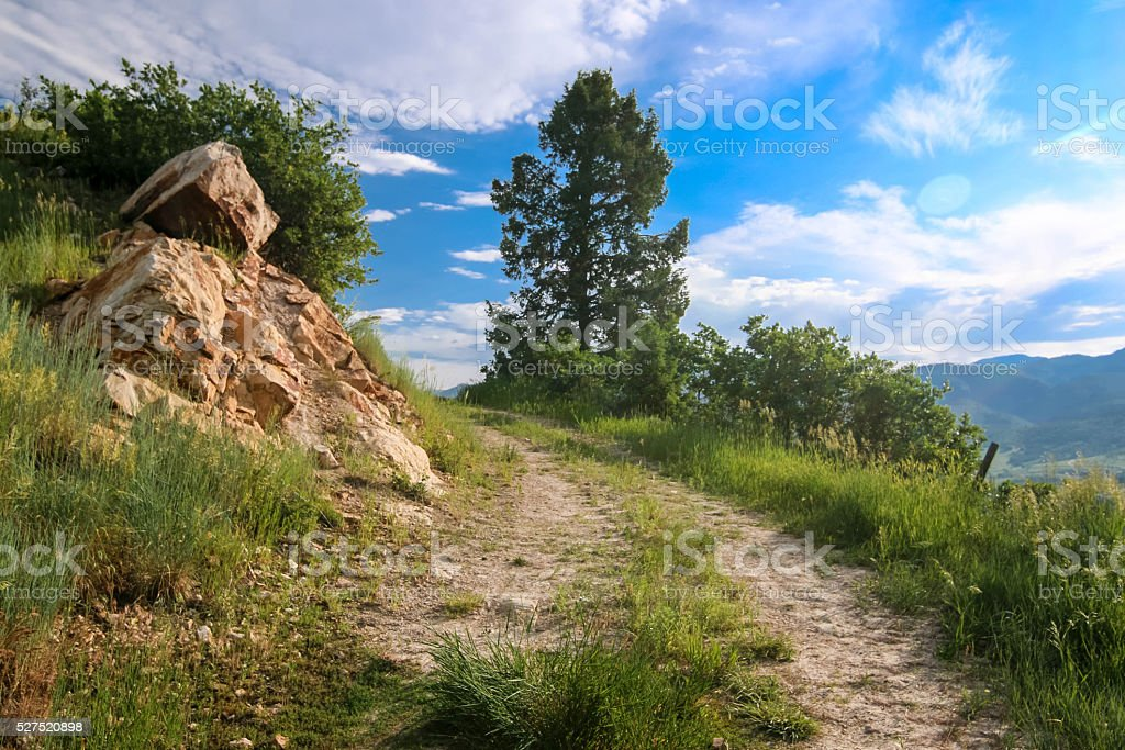 Colorado High Country Hiking - Steamboat Springs Colorado stock photo