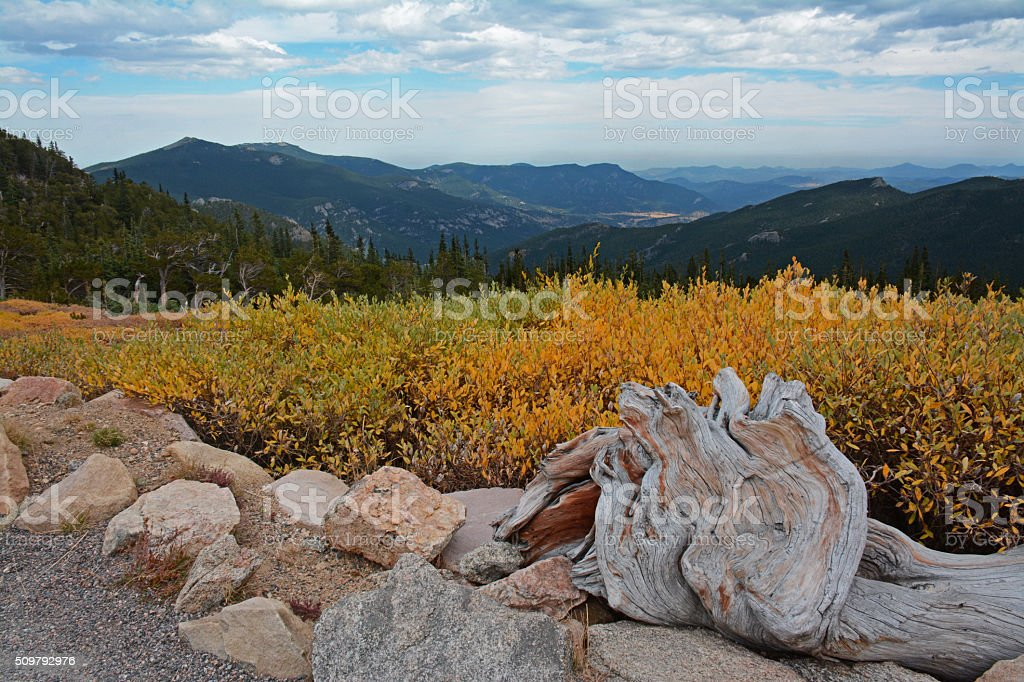 Colorado Hike on Road to Mount Evans stock photo