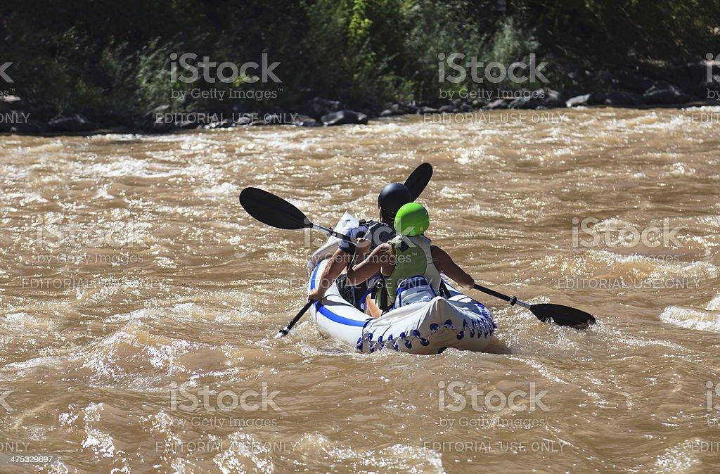 Colorado Kayakers stock photo