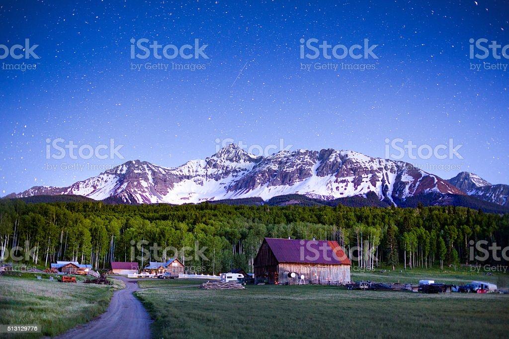 Colorado Mountain Ranch stock photo