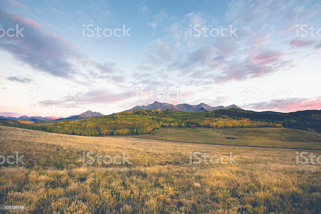 Colorado Mountain Ranch stock photo