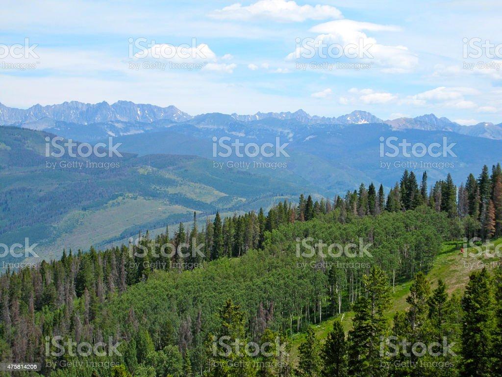Colorado Mountain View stock photo