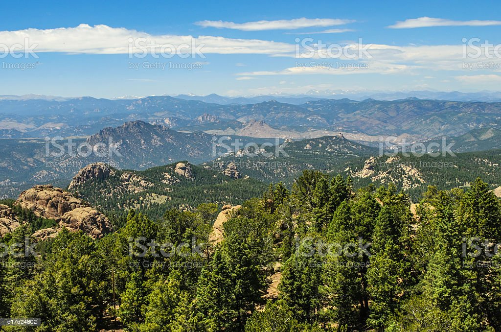 Colorado Mountain View stock photo