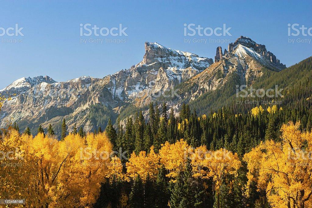 Colorado Mountains in Autumn royalty-free stock photo