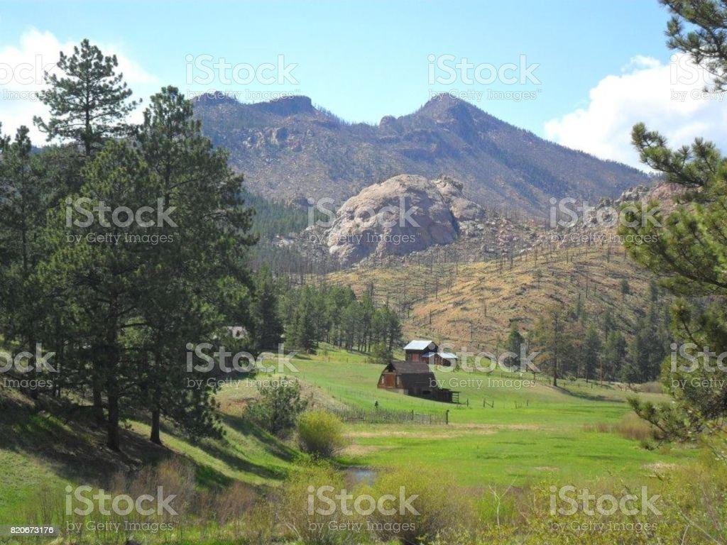 Colorado Mountains stock photo