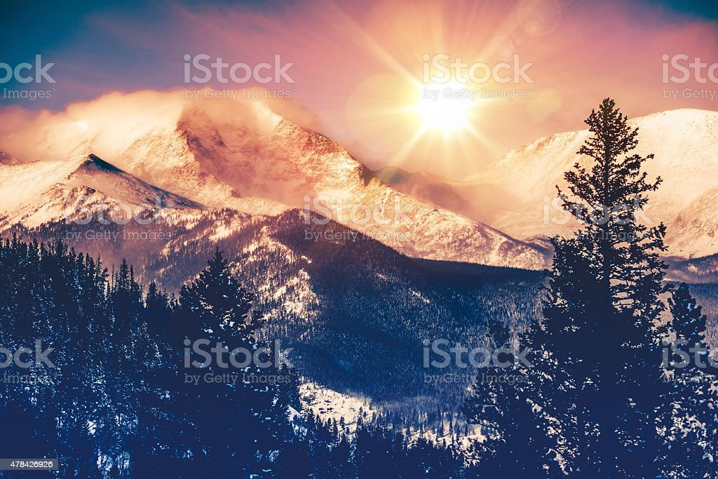 Colorado Mountains Vista stock photo