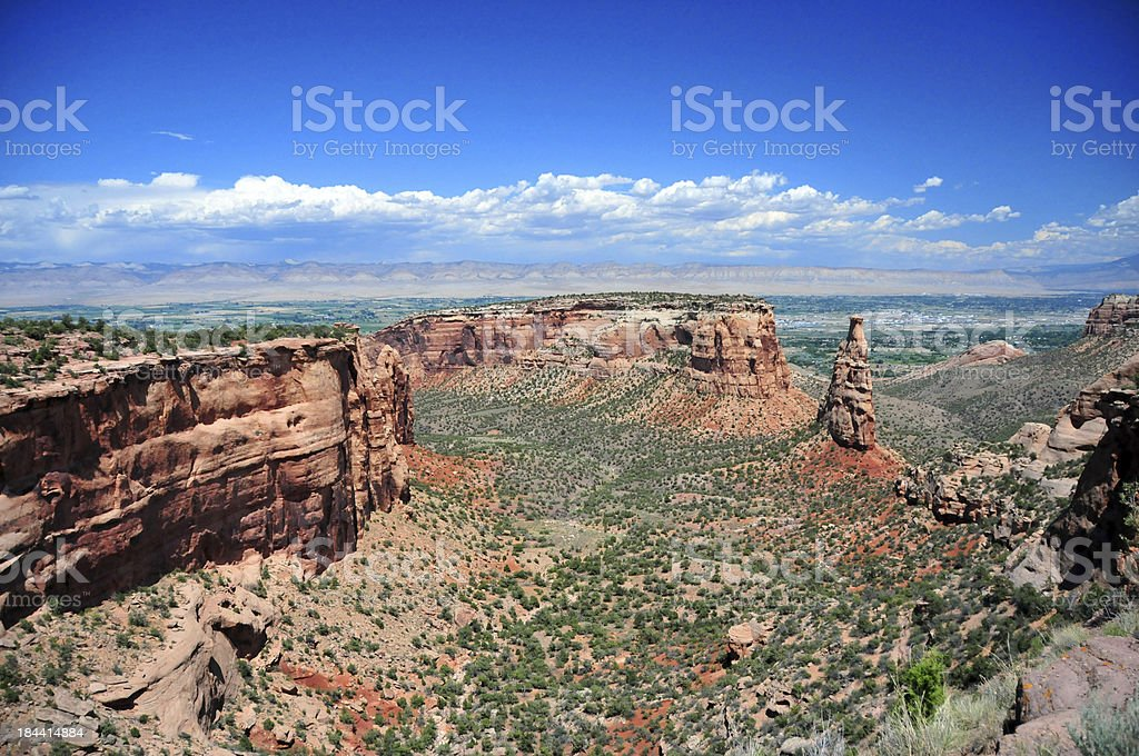 Colorado National Monument, CO, USA: view over Monument-Canyon royalty-free stock photo