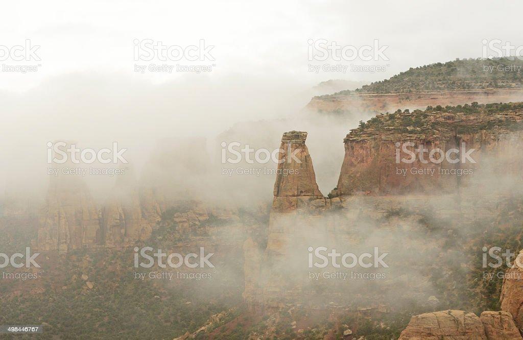 Colorado National Monument Fog stock photo
