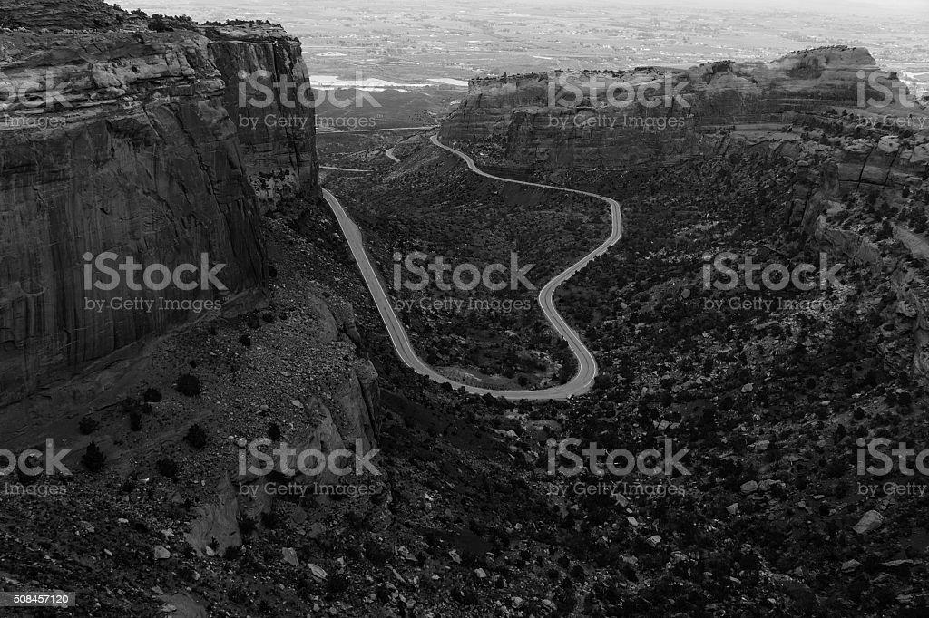 Colorado National Monument Landscape stock photo