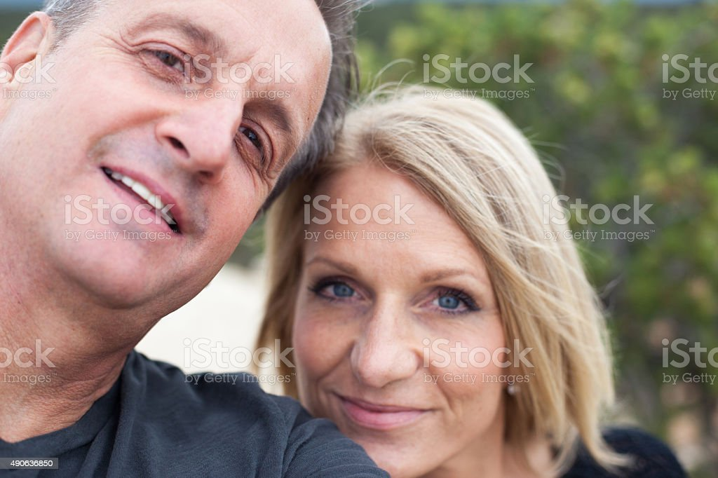 colorado national monument point of interest selfie male and female stock photo