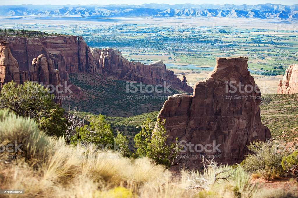 colorado national monument sandstone Independence Rock canyon stock photo