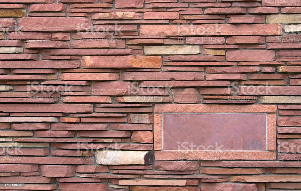 Colorado Red Stone Wall  with Copy Space royalty-free stock photo