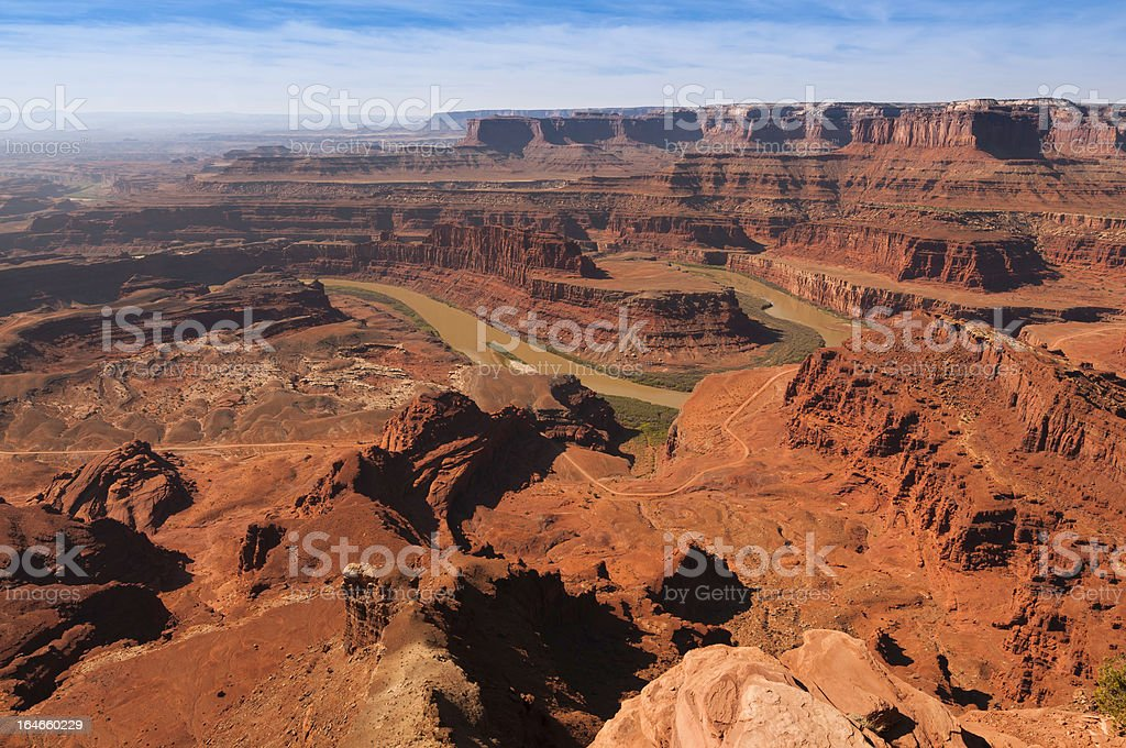 Colorado River and Dead Horse Point royalty-free stock photo