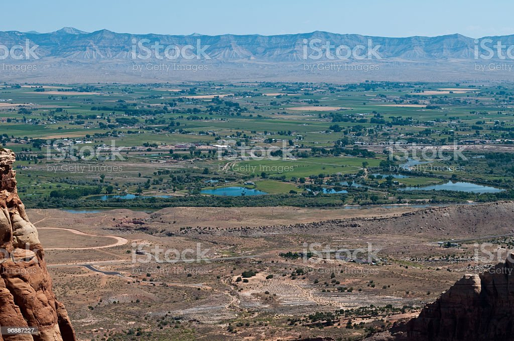 Colorado River and Grand Junction stock photo