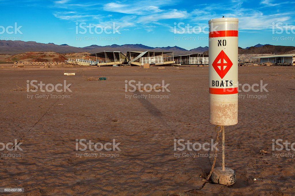 Colorado River and Lake Mead Drought Water Level stock photo