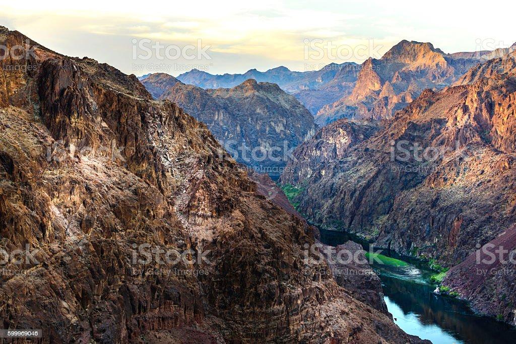 Colorado River at dawn stock photo