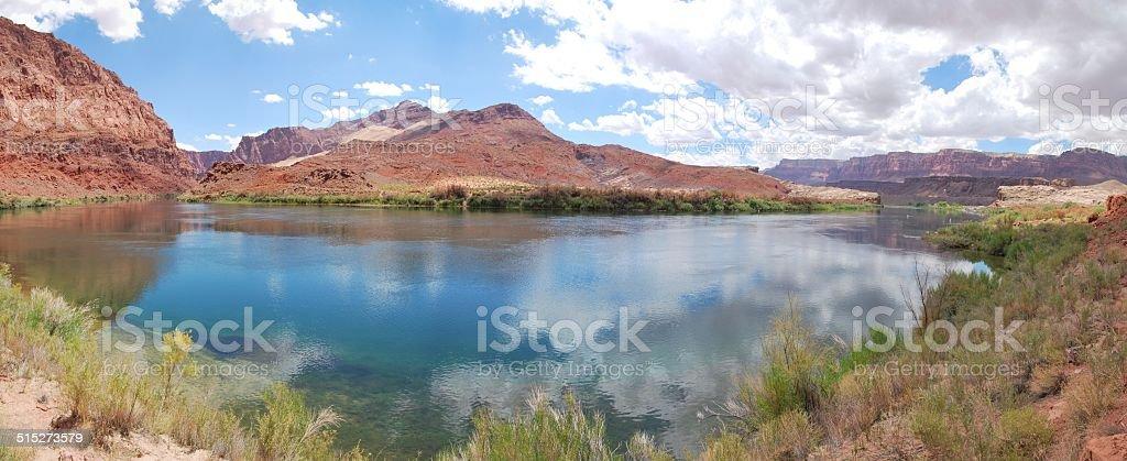 Colorado River at Lee's Ferry, Arizona stock photo