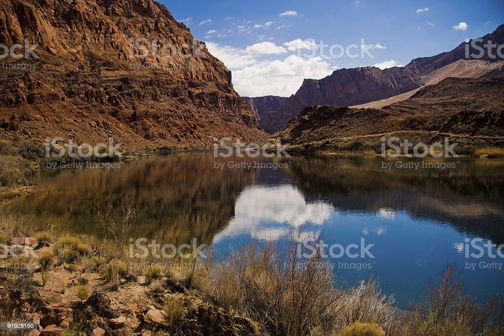 Colorado River at Lees Ferry Crossing stock photo