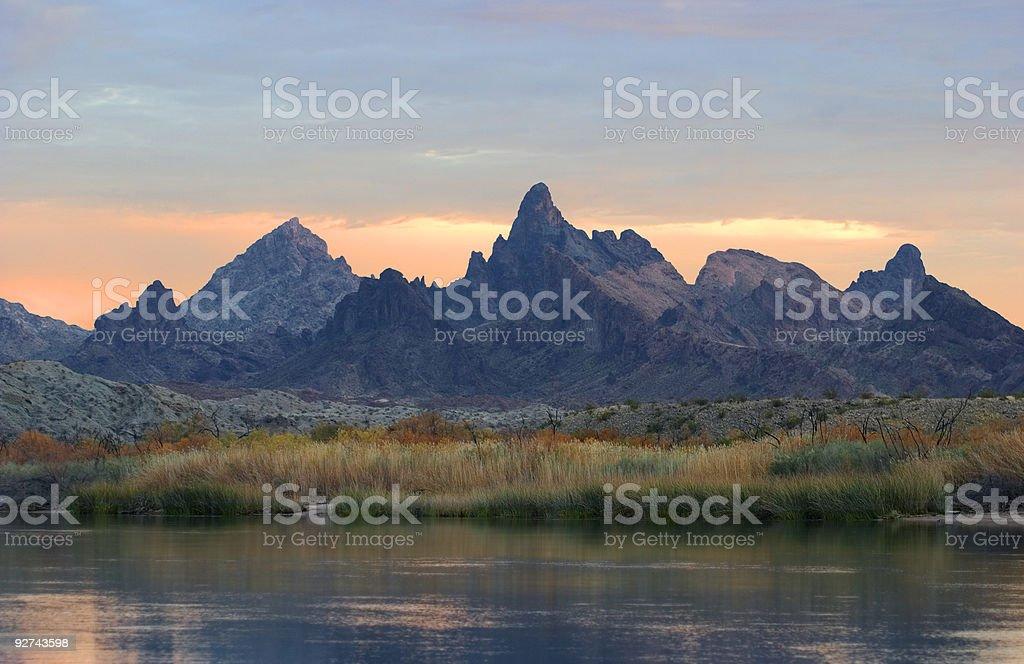 Colorado River at Sunset royalty-free stock photo