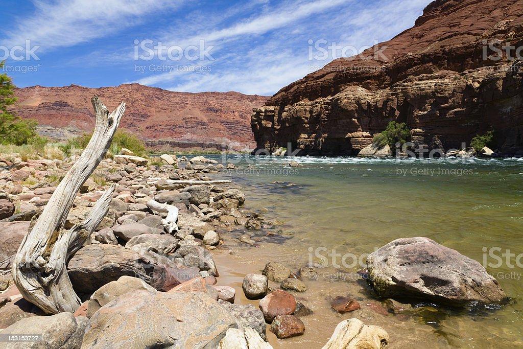 Colorado River Bank stock photo