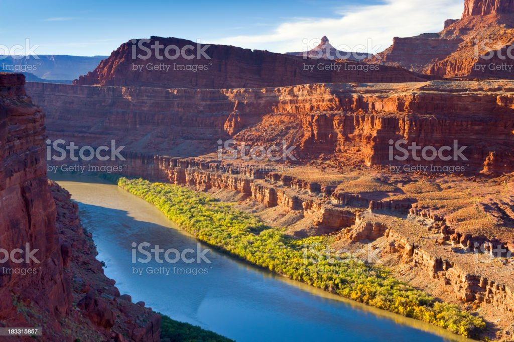 Colorado River Flowing Through Canyon Country Southwest USA royalty-free stock photo