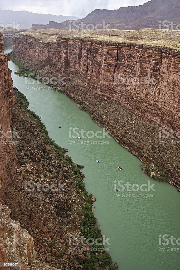 Colorado River from Navajo Bridge royalty-free stock photo