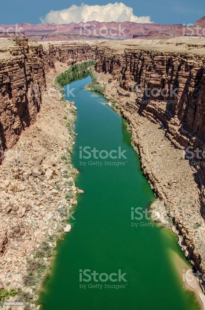 Colorado River green stock photo