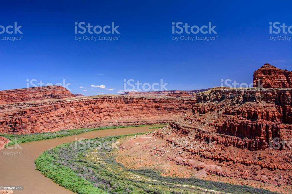 Colorado River in Canyonlands National Park, Moab Utah United States stock photo
