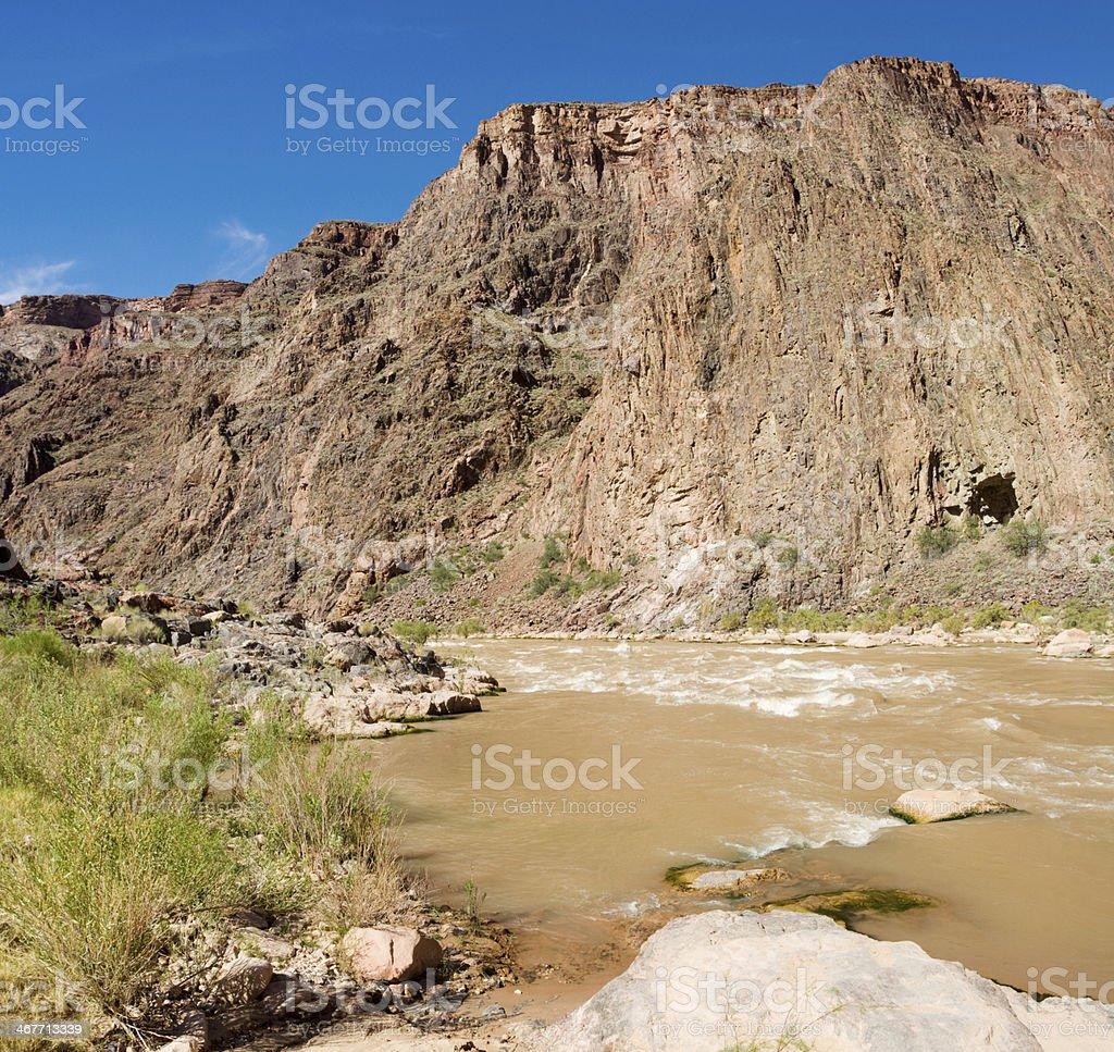Colorado River in Grand Canyon royalty-free stock photo