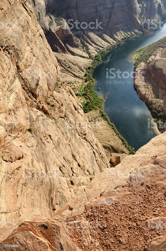 Colorado River in the horseshoe royalty-free stock photo