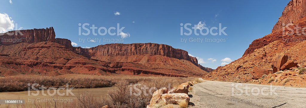 Colorado River, Scenic Byway 128, Moab, Utah, USA stock photo