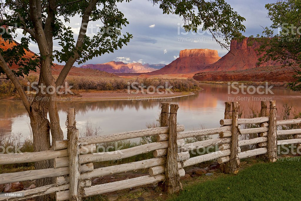 Colorado River Valley at Sunset royalty-free stock photo