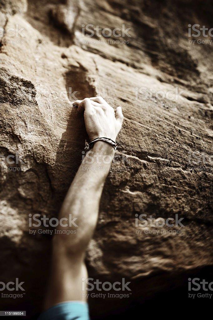 Colorado rock climbing portraits stock photo