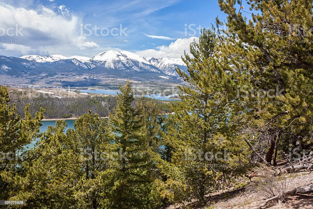 Colorado Rockies in Springtime stock photo