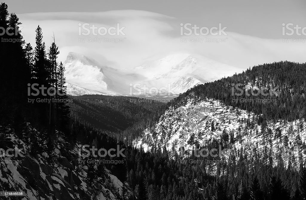 Colorado Rocky Mountains in Winter royalty-free stock photo