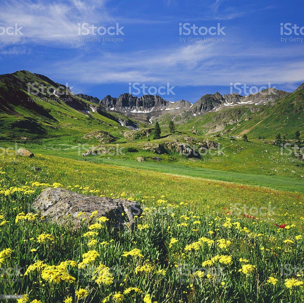 Colorado Rocky Moutain Spring stock photo