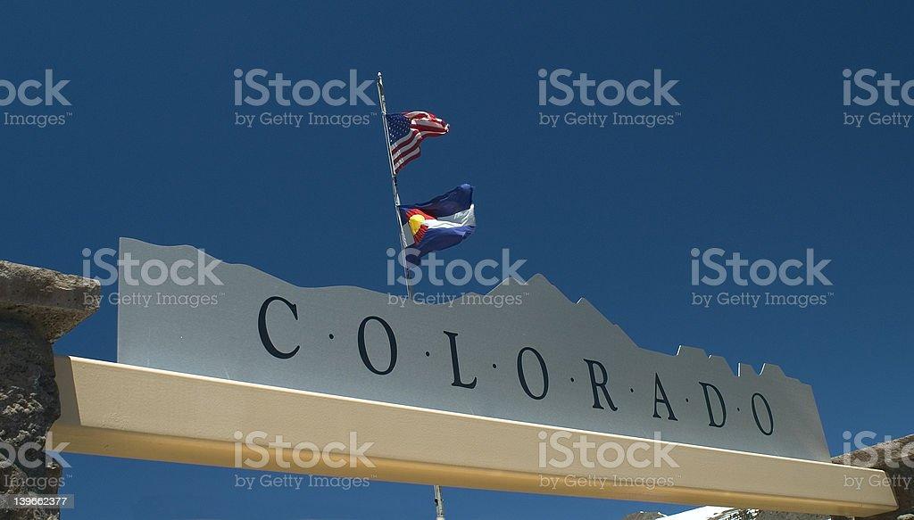 Colorado Sign stock photo