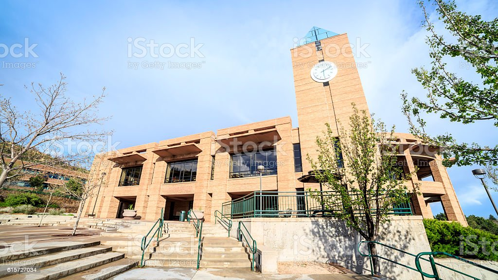 Colorado Spring University building, CO, USA stock photo