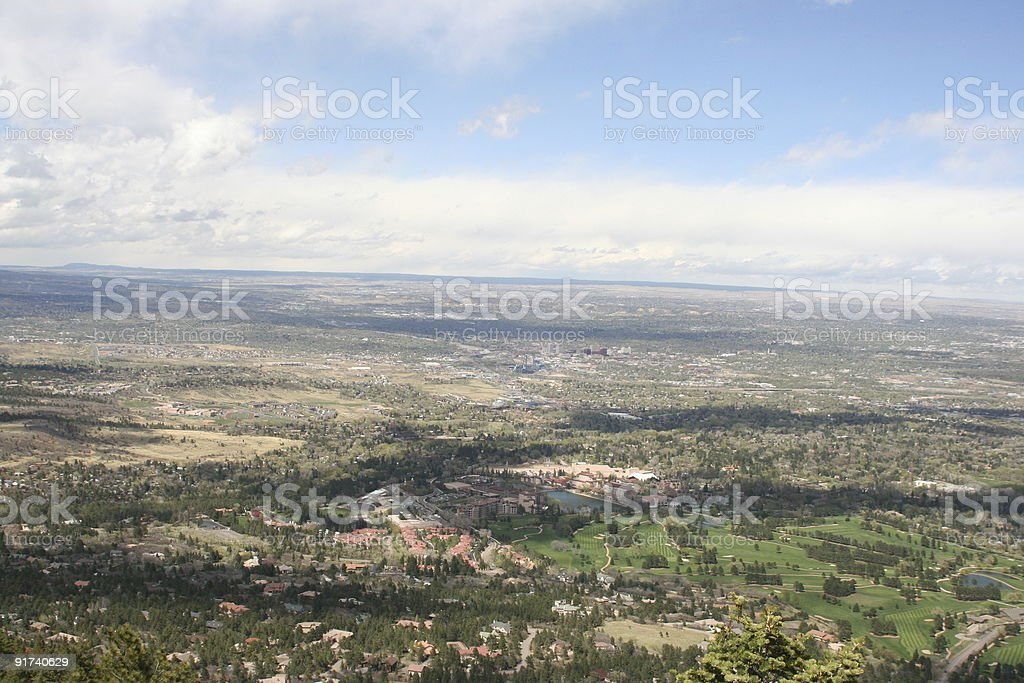 Colorado Springs overview royalty-free stock photo