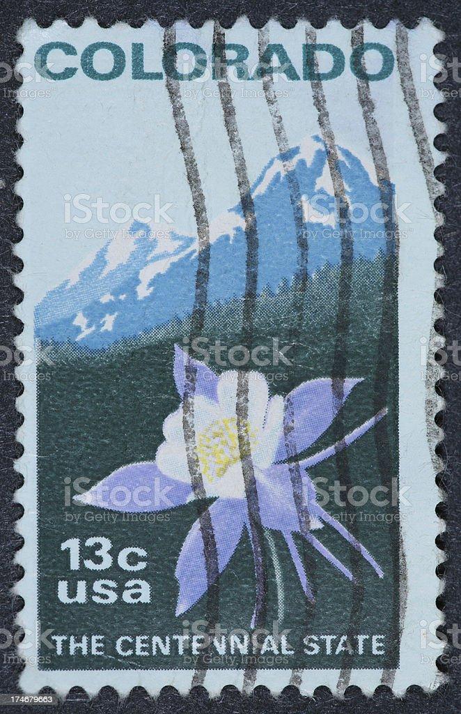Colorado stamp royalty-free stock photo
