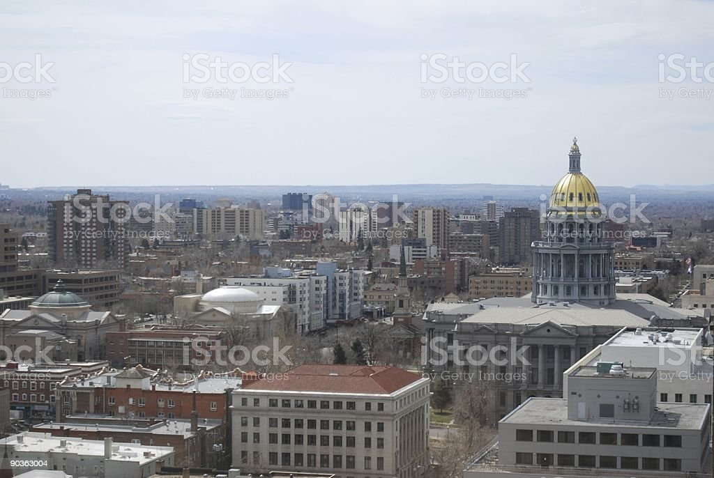 Colorado State Capital with surrounding buildings stock photo