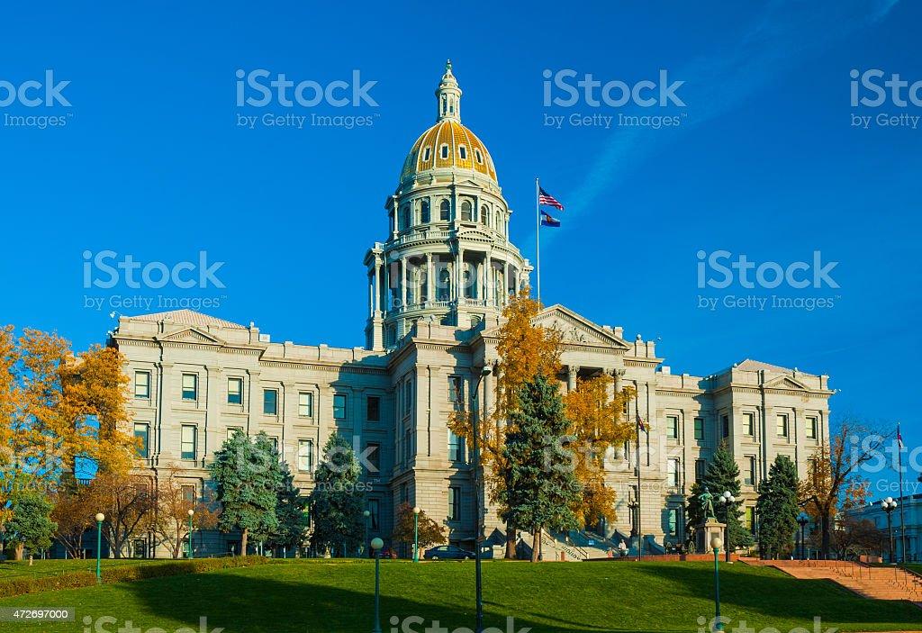 Colorado State Capitol building in Autumn stock photo