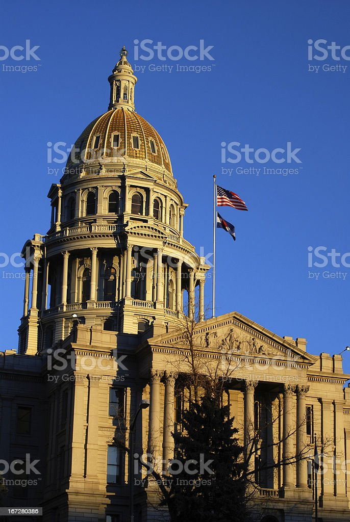 Colorado State Capitol Building with Gold Dome stock photo