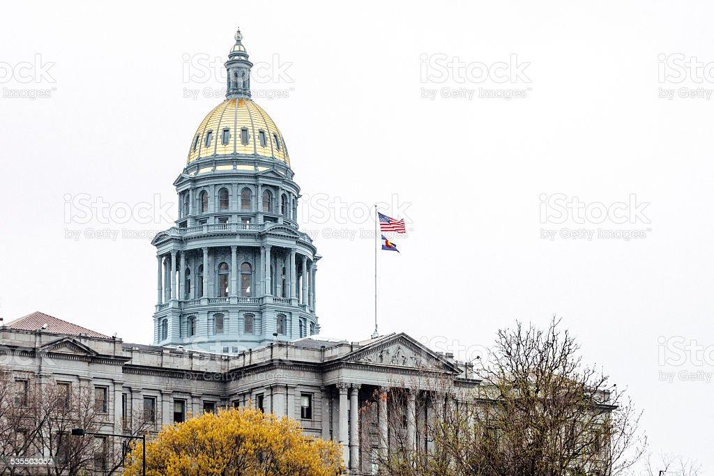 Colorado State Capitol in Denver. stock photo