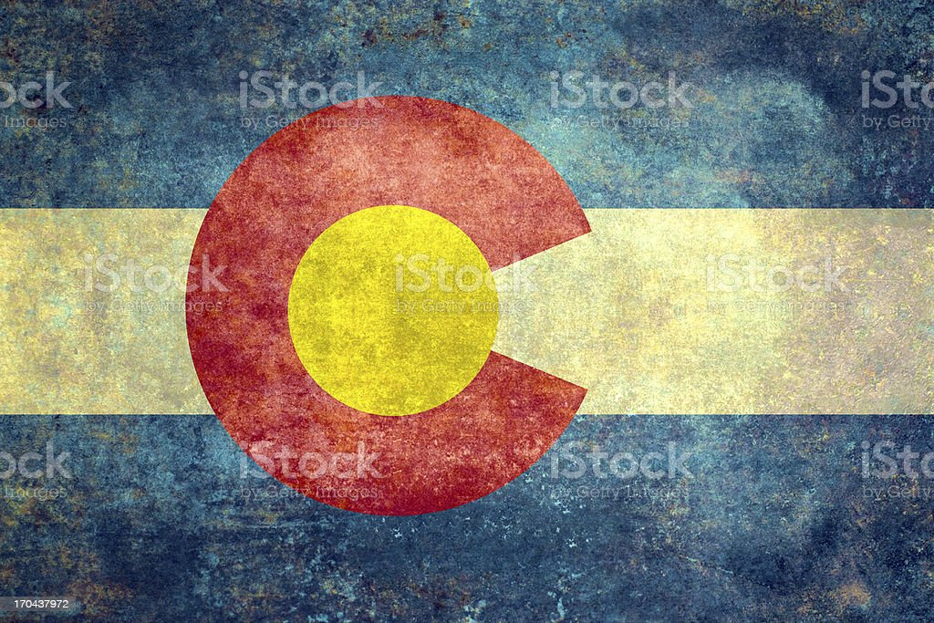 Colorado State flag Distressed version stock photo